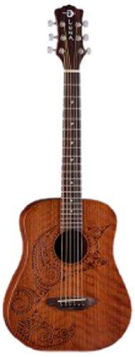 Luna Safari Series Tattoo Travel-Size Dreadnought Acoustic Guitar by Luna Guitars