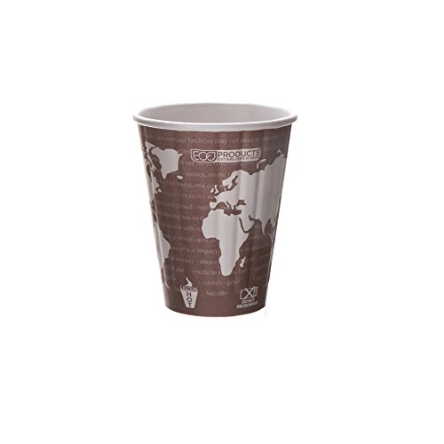 Eco-Products - Compostable, Insulated Paper Cup - 8 oz. Cup EP-BNHC8-WD (20 Packs of 40)