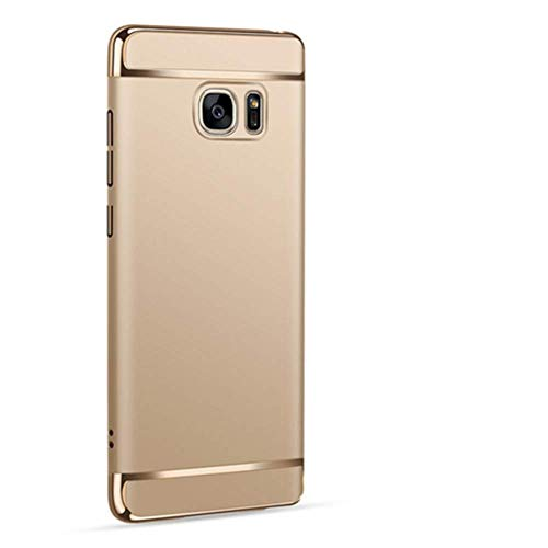 Sophili Galaxy Note 5 case, [3 in 1 Series] Anti-Scratch Shockproof Electroplate Protective Hard Case Compatible for Galaxy Note 5 - Golden