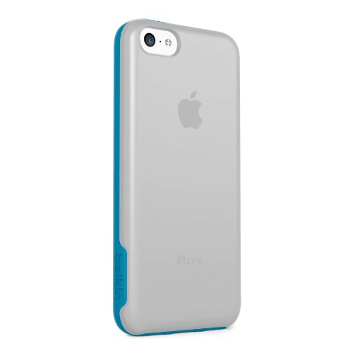 Belkin Clear Case Iphone (Belkin Grip Candy Case / Cover for Apple iPhone 5c (Clear / Topaz))