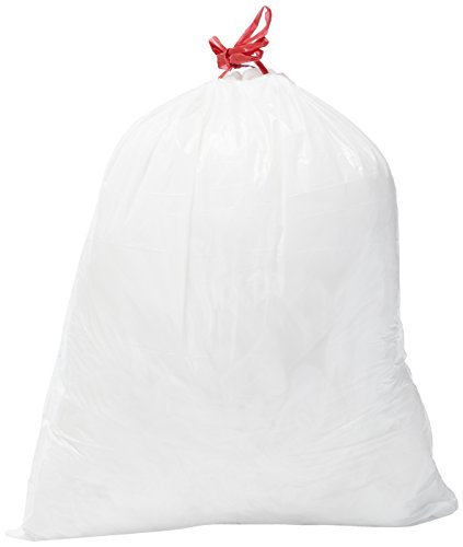 Amazon Brand – Solimo Tall Kitchen Drawstring Trash Bags, 13 Gallon, 200 Count