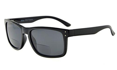 Eyekepper Bifocal Sunglasses Men Women (Black Frame, Grey Lens - Ansi Z80.3 Sunglasses