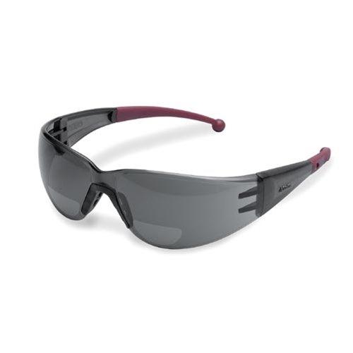 Elvex Clear Bifocal Reading Glasses, Scratch-Resistant, Wraparound