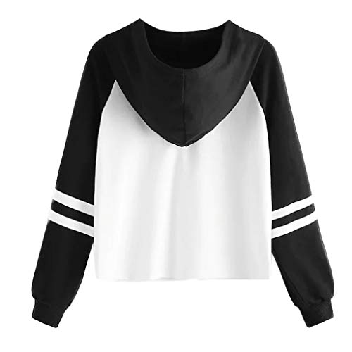 Long Sleeve Hooded Crop Blouse for Women Girl Animal Print Pullover Sweatshirt Tops