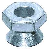 3/8''-16 Tamper-Resistant Break-Away Nuts, Zamak 5 Zinc Alloy, 3/4'' Hex Drive