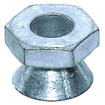 3/8''-16 Tamper-Resistant Break-Away Nuts, Zamak 5 Zinc Alloy, 3/4'' Hex Drive by Tanner
