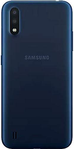 "Samsung Galaxy A01 (A015M) 16GB, Dual SIM, GSM Unlocked, 5.7"" Display Smartphone – International Version – Blue 31L 2BHd 2BDM9L"