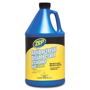 - ZPEZUBAC128 - Zep Antibacterial Disinfectant amp; Cleaner with Lemon