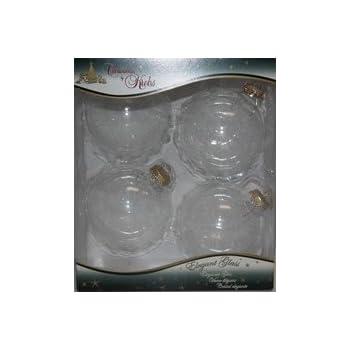 """Amazon.com: Box of 4 Large 3-1/4"""" Glass Ball Christmas ..."""
