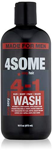 SEXYHAIR Style 4some 4-in-1 Hair, Body, Face & Beard Wash, 16 fl oz