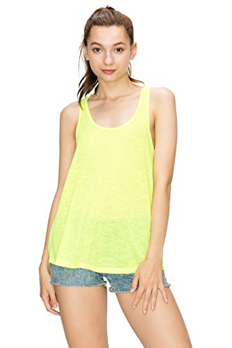 Racerback Tank Tops for Women Workout Yellow S