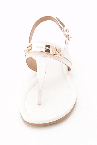 Chalk Patent Coach Caterine Women's Patent Leather Sandal qOxgHFwR