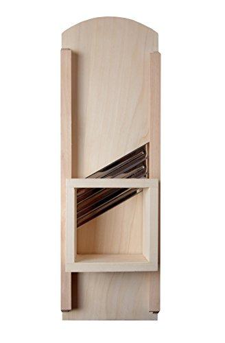 Krauthobel klein Classic aus Pappelholz , 3-Messer aus Edelstahl, 18x55 cm