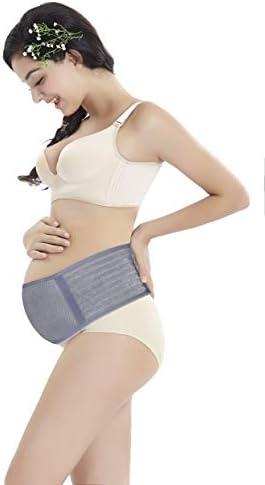 WANYI 妊婦帯 腹帯 産前産後 マタニティベルト 妊婦用サポーター 腹帯としてダブルベルト 骨盤 恥骨や腰の負担をしっかりサポート 腰痛 冷房対策 通気性良 簡単装着 (グレー, 110CM)