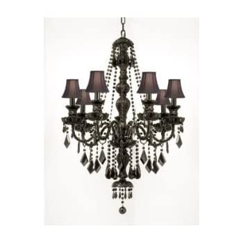 New jet black gothic crystal chandelier lighting with black shades jet black gothic crystal chandelier lighting with black shades aloadofball Images