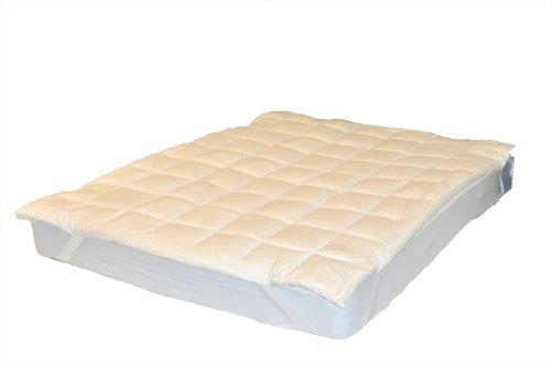 Ultra Soft 2-Inch Thick Side Wall Gusseted Mattress Pad Topper, King (200tc Mattress Pad)