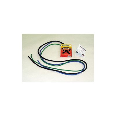 Cando 10-5382 Green/Blue/Black Low-Powder Exercise Tubing PEP Pack, Moderate (Tubing Pack)