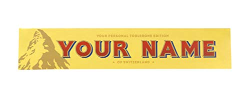 Toblerone Personalized Swiss Milk Chocolate Bar, 12.6oz