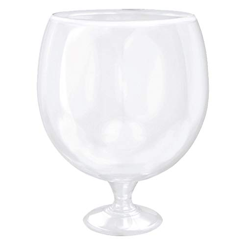 (Clear Jumbo Drinking Wine Glass | 135 oz. | Party)
