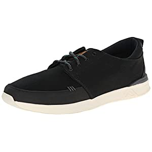 Reef Men's Rover Low Fashion Sneaker, Black, 8 M US