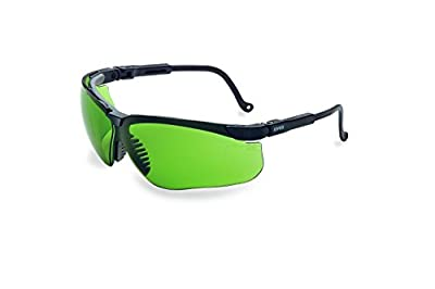 Uvex by Honeywell Genesis Safety Glasses, Black Frame with Shade 2.0 Infra-Dura Lens & HydroShield Anti-Fog Coating (S3206HS)