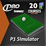 P3Proswing Deluxe Golf Simulator with 20 courses
