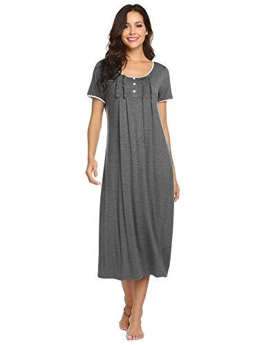 6bc152294067 Hotouch Nightgowns Womens Cotton Night Shirts Sleeveless Sleep Dress S-XXL