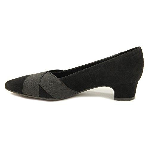 Vaneli Femmes Allure Pumps Chaussures Noir Daim / Noir Élastique