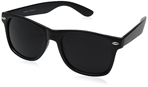 zeroUV ZV-8452h Wayfarer Sunglasses, Matte Black, 54 mm