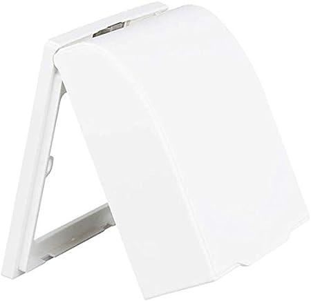 Juntful Plástico Interruptor de Pared Cubierta Impermeable Caja Lámpara de Pared Panel Enchufe Timbre FILP Cubierta Tapa Transparente Cocina Baño Descriptor de Acceso - Blanco: Amazon.es: Hogar