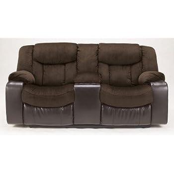 Amazon Com Ashley Furniture Signature Design Tafton Reclining Loveseat With Console Pull