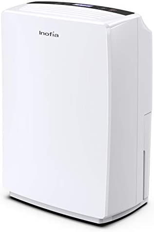 Inofia 30 Pint Dehumidifier for Home Basements, Bedroom, Kitchen, Bathroom, Compact Electric Dehumidifiers for Quiet Efficient Intelligent Humidity Control on Small Medium Rooms up to 1000 sq ft