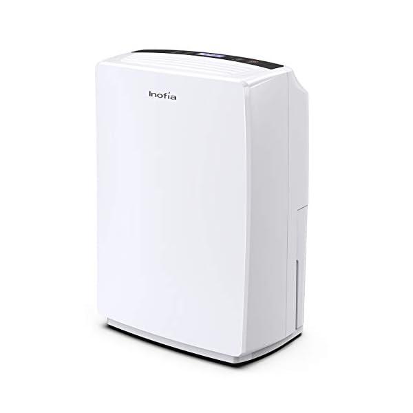 Inofia 30 Pint Dehumidifier for Home Bedroom/Kitchen/Living Room/Bathroom, Compact...