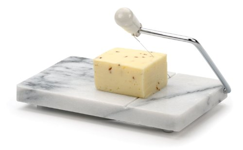 RSVP White Marble Cheese Slicer Board (White, 1) [Kitchen]