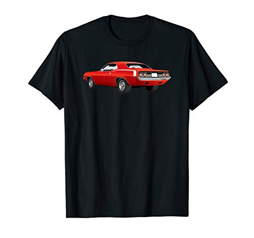 Red 1970's American Muscle Car T-Shirt