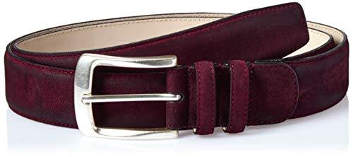 Mezlan Men's Belts Men's Euclid, burgundy, 36 (Mezlan Suede Belt)