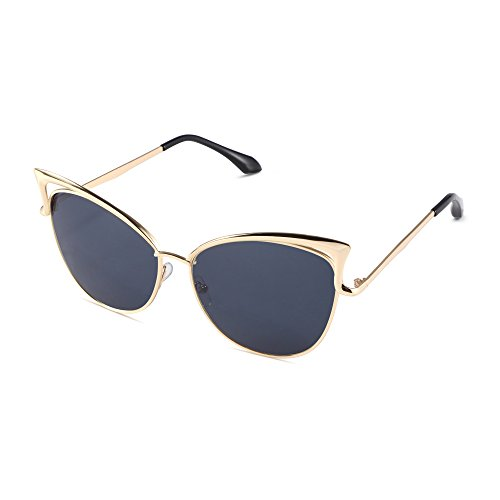 Pession Women's Fashion Flash Mirror Vintage Cat Eye - Sunnies Sunglasses