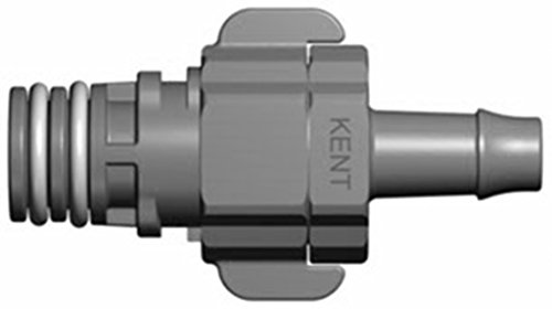 Kent Systems 4AX216-009 Acetal/Nylon Collection 4 Shut-Off Tube Fitting, Quick Coupling, 1/4