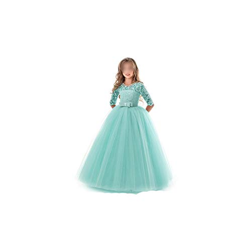 Girl Costume Lace Half Sleeve First Communion Tulle Lace Wedding Princess Costume -