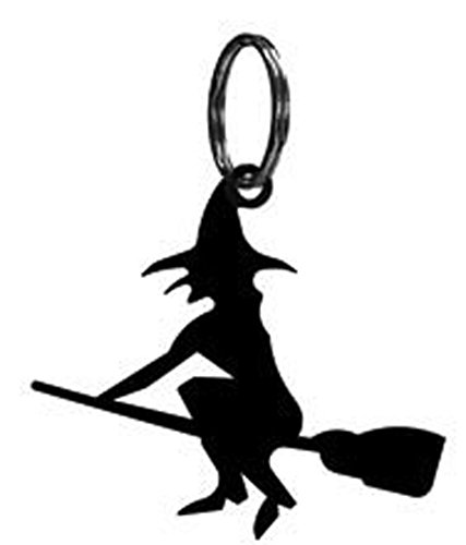 Iron Witch Keychain Keyring - Heavy Duty Metal Key Chain, Key Ring, Key Hooks, Key -