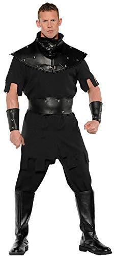 Underwraps Medieval Punisher Executioner Adult Halloween Mens Costume Standard or Plus Size Black