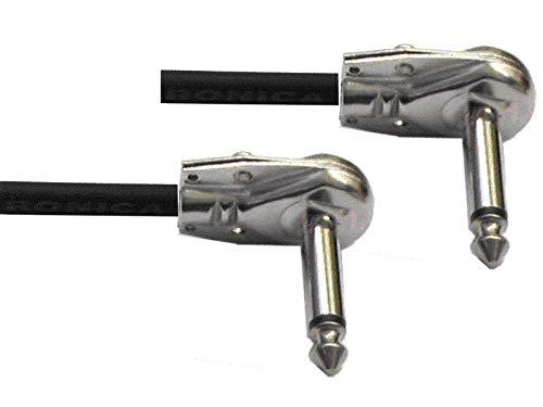 6,3mm mod MPE G16-50cm Cavo patch per strumenti e pedali effetto 50cm assemblato con due Jack mono ultra piatti ad angolo 90/° pipa D