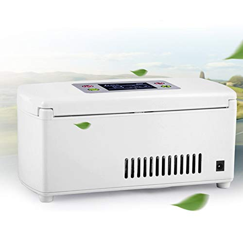 - Compact Refrigerator,Portable Insulin Cooler Refrigerated Box/Drug Reefer/Car Small Refrigerator,Rechargeable, LCD Display,2-8℃,Home power supply,Car charging, USB,by FUNWILL