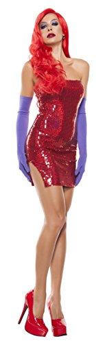Starline Women's Jes Grabit Sexy 2 Piece Costume Dress Set, Red, X-Large ()