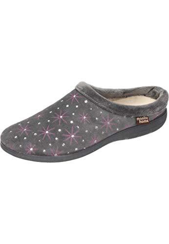 35 Manitu Donna 320550 Pantofole grau Grigio qvOaw1vP