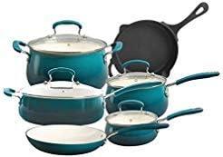 10-Pc. Pioneer Woman Vintage Speckle Non-Stick Cookware Set