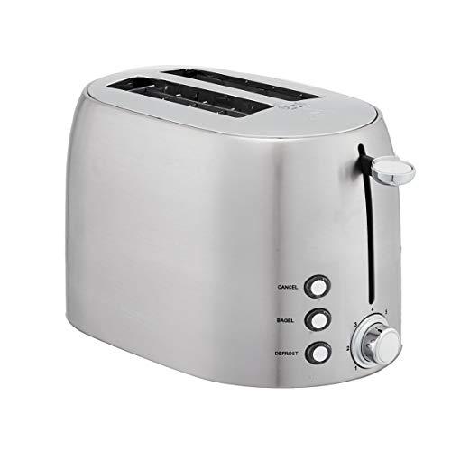 Amazon Basics 2-Slot Toaster, Brushed Silver