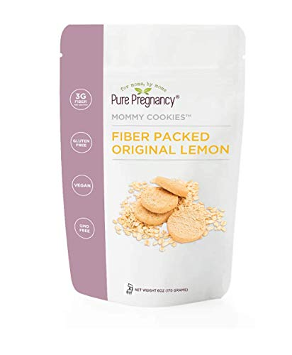 Pure Pregnancy Fiber Packed Original Lemon Mommy Cookies (1 6oz. Bag) GMO free, Gluten free, Vegan, Kosher Fiber Cookies Review