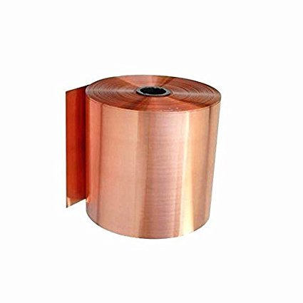 (Tong gu 0.1x1m Pure Copper Foil Metal Copper Sheet Plate Guillotine Cut Material Two 0.02-0.05mm Thickness (0.05mm))