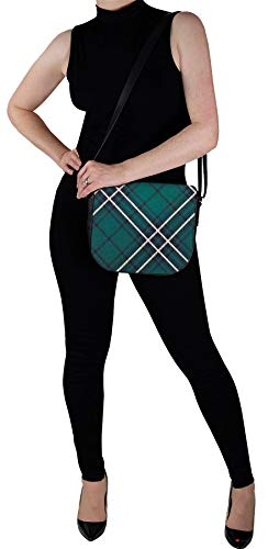 Inside Back Shoulder with MacLean with Pocket Leather Bag Tartan Handbag and wAzOqzH0n